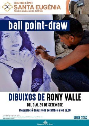 Rony Valle Artistas del Pincel Catracho en la ciudad de Girona