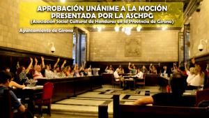 Así fue la aprobación de la moción presentada por ASCHPG en el pleno celebrado en el ayuntamiento de Girona