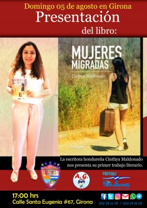 Flayer Mujeres Migradas presentación en Girona