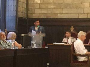 Saady Suazo en defensa de la moción presentada por la ASCHPG