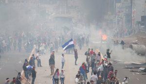 Protestas en contra del fraude electoral realizado en Honduras, con la Reelección de Juan Orlando Hernandez