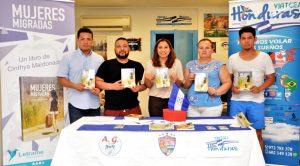 Presentación en Girona, con el apoyo de ASCHPG, Artes Gráficas 504 y Viatges Honduras