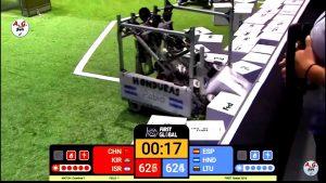 Robot con el que ganaron el segundo lugar por diseño y eficacia en los premios Einstein First Global