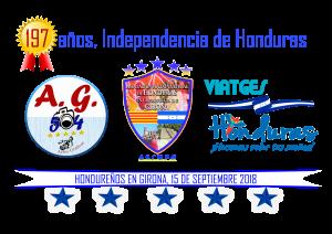 Los responsables de realizar el evento conmemorativo en la ciudad de Girona por el 197 años de independencia de Honduras