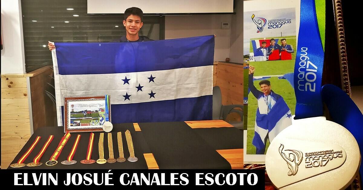 Atleta hondureño radicado en la ciudad de Girona josué canales