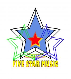 "Logotipo oficial de ""Five Star Music"""