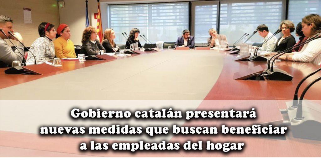 El gobierno catalán prepara medidas de apoyo a las personas que trabajan como empleadas del hogar y en el cuidado de las personas.