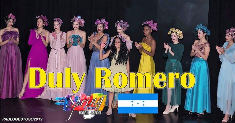 Participación de la Hondureña Duly Romero en el Prestigioso Certamen de Diseñadores de alta costura