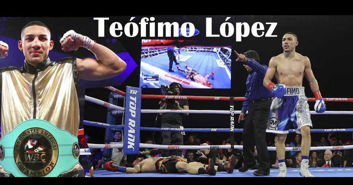 Teófimo López gana por nocaut | Polémica por apartar la bandera de Honduras